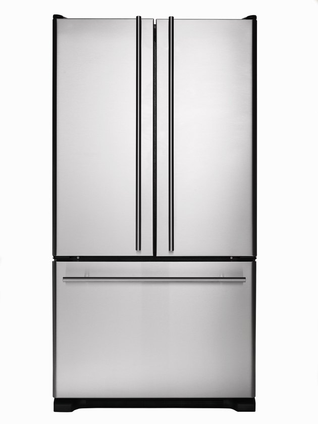 Stainless steel refrigerator/freezer
