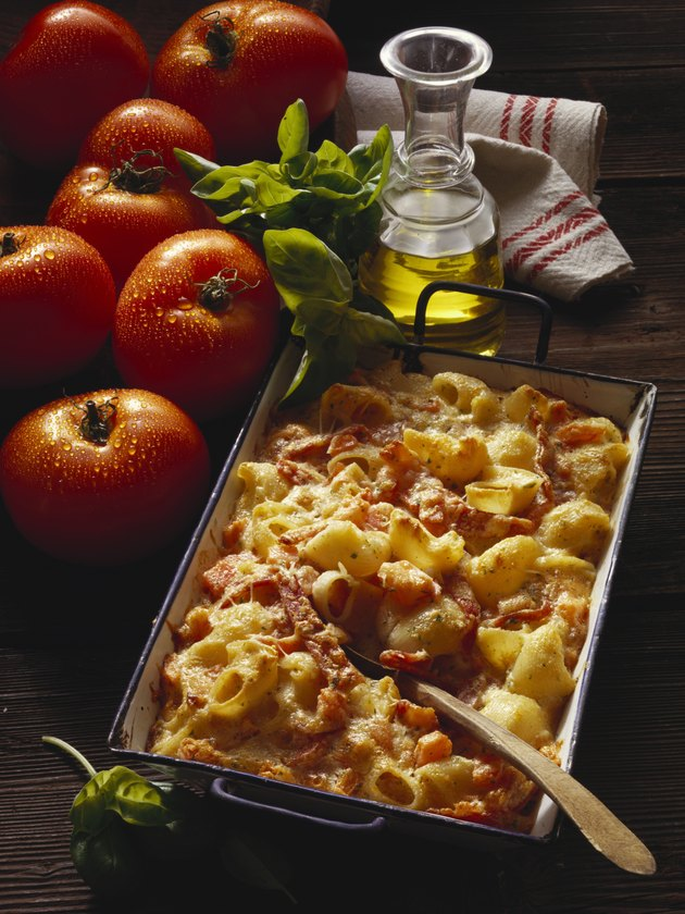 Baked pasta with ham (Italy)