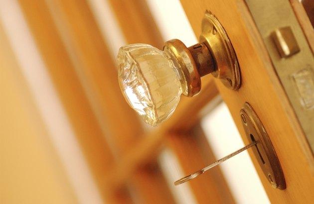 Door knob and skeleton key