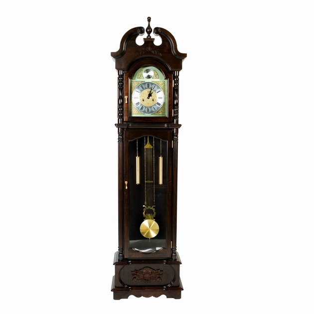 Close up of a grandfather clock