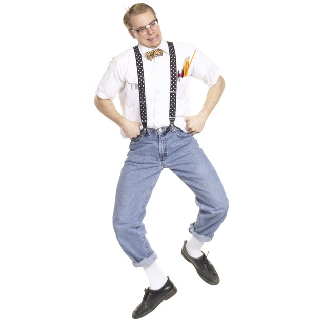 Nerdy man dancing