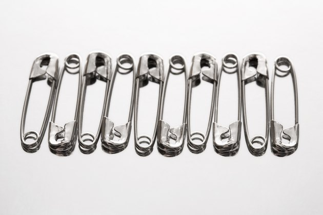 Row of safety pins