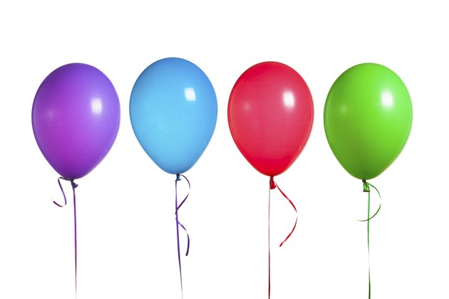 colorful balloons group