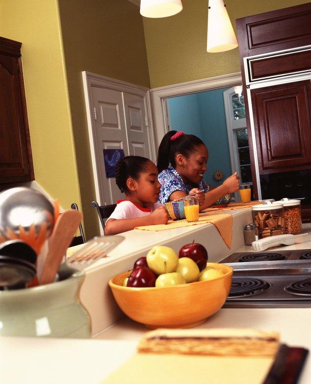 Sisters eating