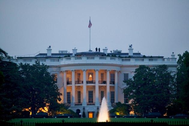 Nighttime view of the White House, Washington D.C.