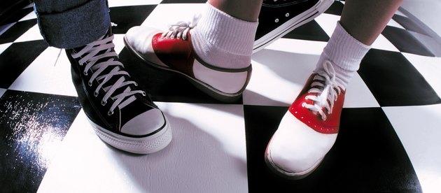 50's sock hop feet