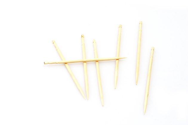 Tooth picks made to look like wickets