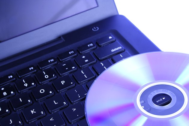 Close up shot of a disc on a keyboard
