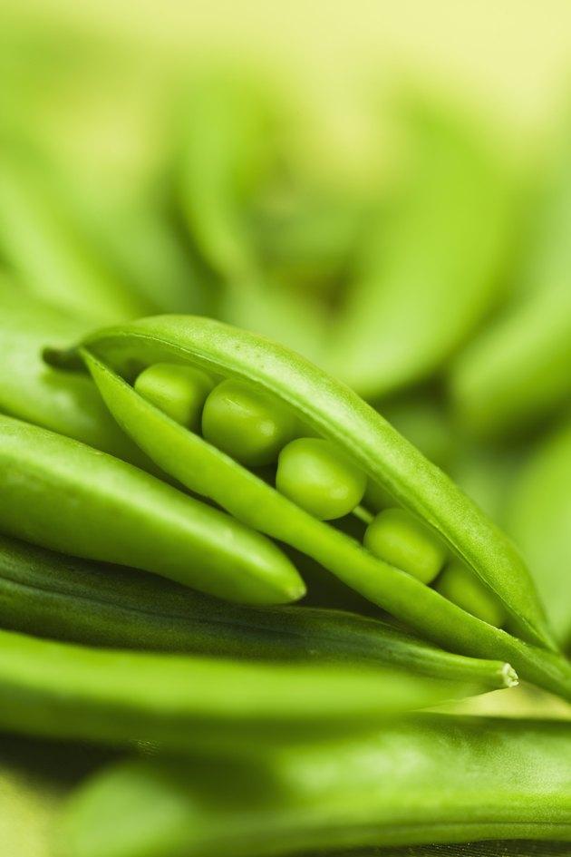 Peas in pea pods