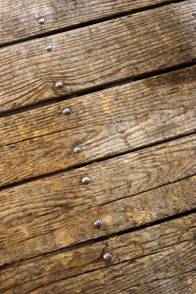 Old wooden floorboards
