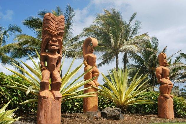 Hawaian Wooden idols