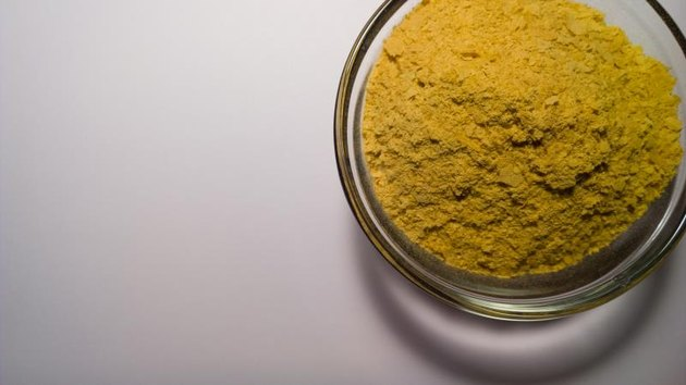 Nutritional Yeast in a Prep Bowl on White.