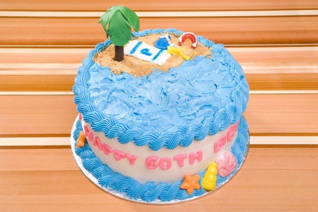 Happy Birthday Beach Cake