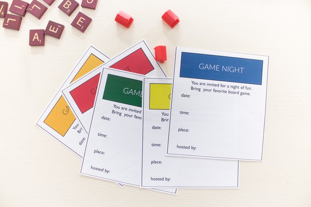 Monopoly game night invitations