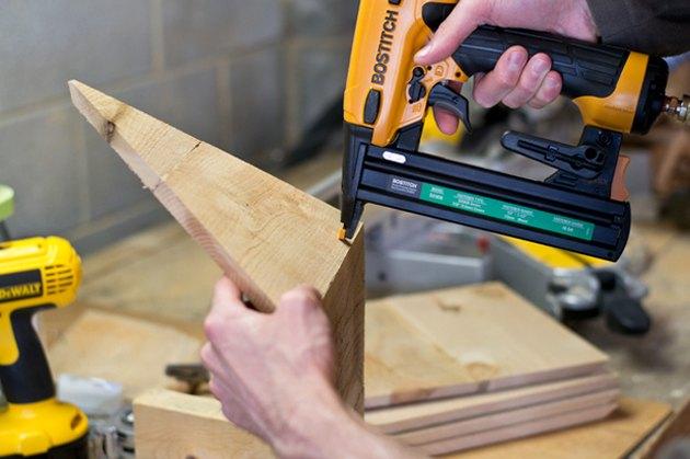 Use an air stapler to assemble planter.