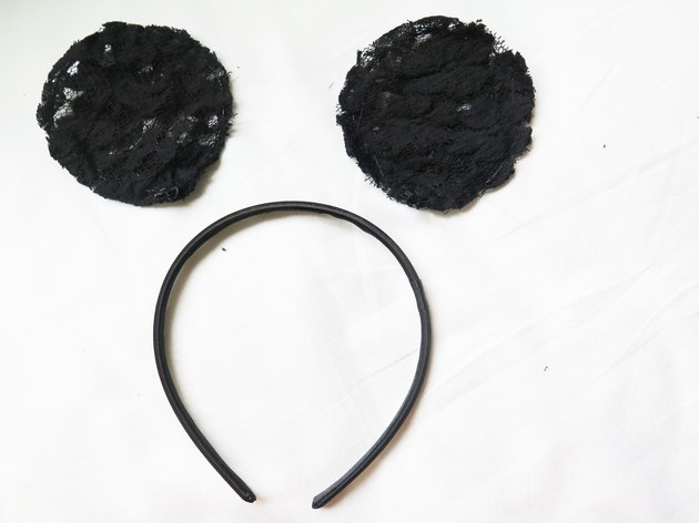 Unattached lace mouse ear pieces.
