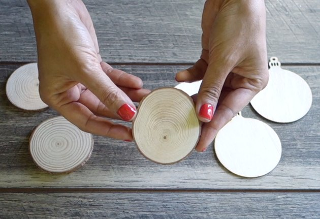 DIY Ink to Wood Ornament