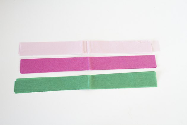Cut Tissue Paper Into Strips