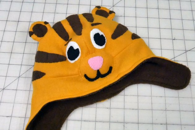 finished Daniel Tiger hat