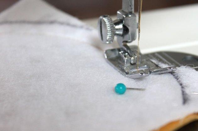 Stitch 1/4 inch inside curve.