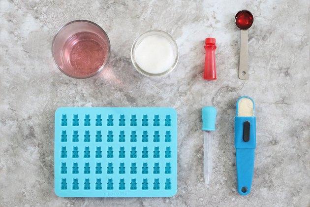 Ingredients for rosé gummy bears