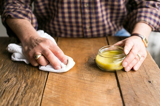 DIY Beeswax Wood Treatment with Lemon and Olive Oil