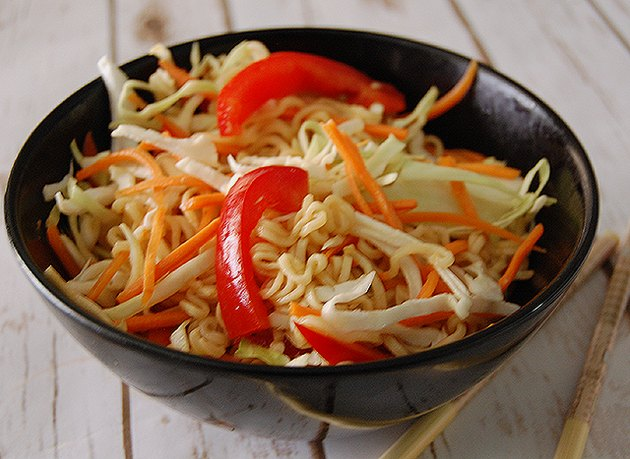 Finished Cold Asian Noodle Salad