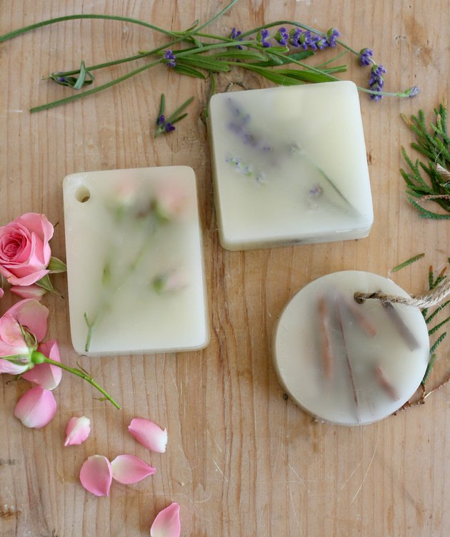 Rose, lavender and sandalwood wax sachets.