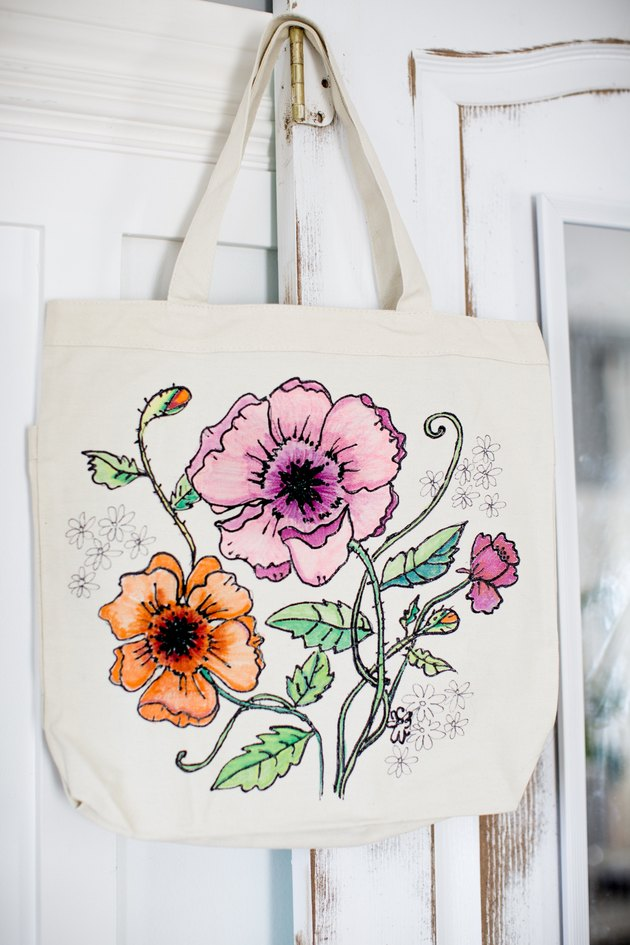 Coloring page canvas bag