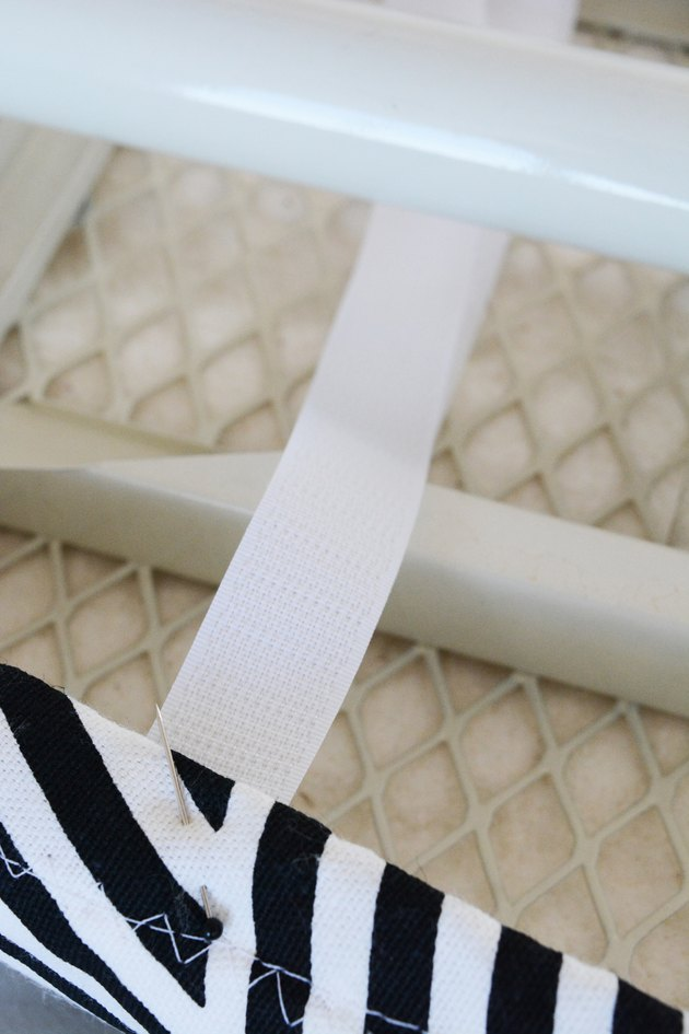 Pin on the velcro.