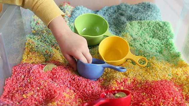 DIY Rainbow Sensory Box