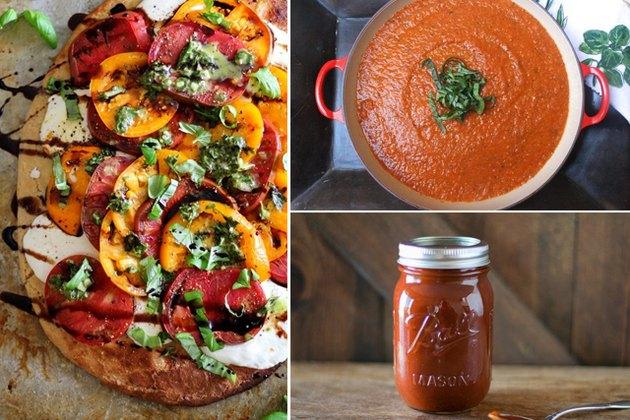 pizza, tomato sauce, barbecue sauce.
