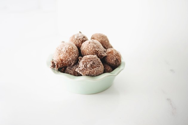 The Donut Holes are best served straight after frying and coating.
