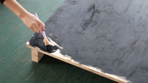 Painting plywood with matte black paint