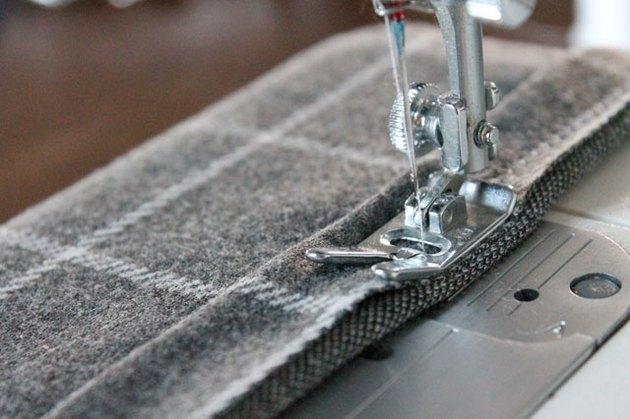 Sew the accordion fold hem with a zig zag stitch.