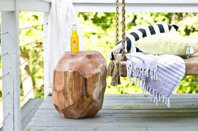 geometric log side table