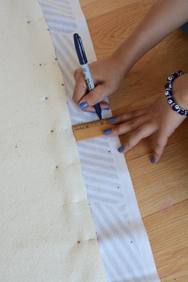 Measure the fabric.