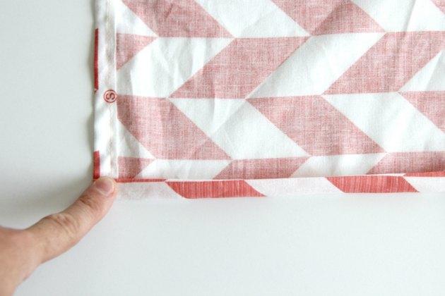 Hem the outer edges of your handkerchief skirt