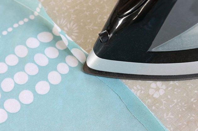 press along stitch line