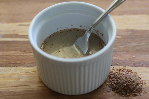 Flax egg in a bowl