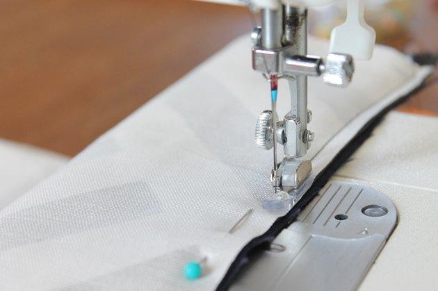 sew along pinned edge