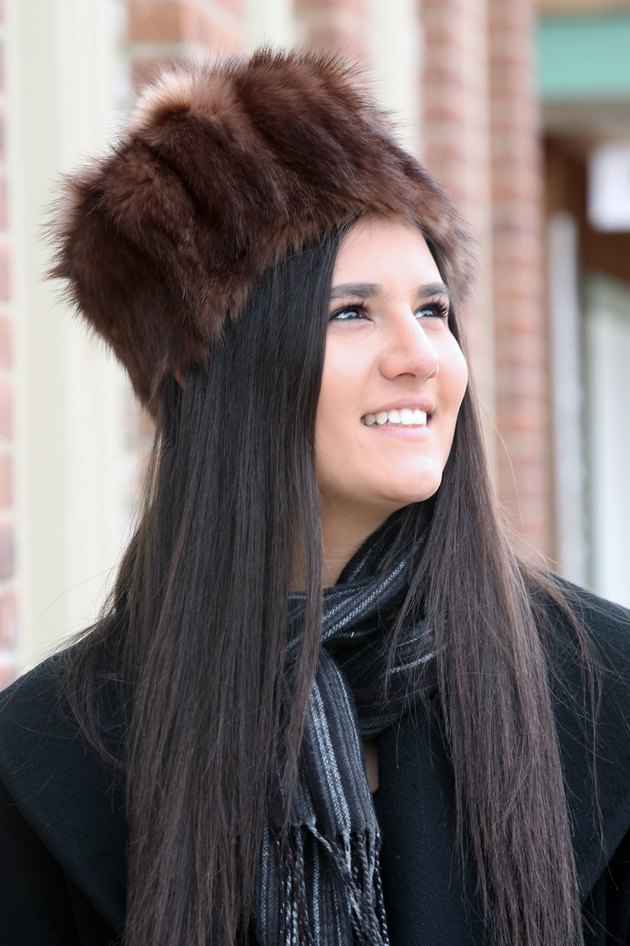 finished fur hat