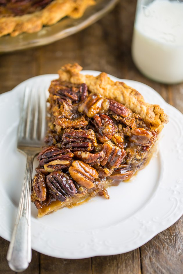 Homemade pecan pie.
