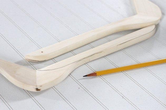 trace glue lines close up