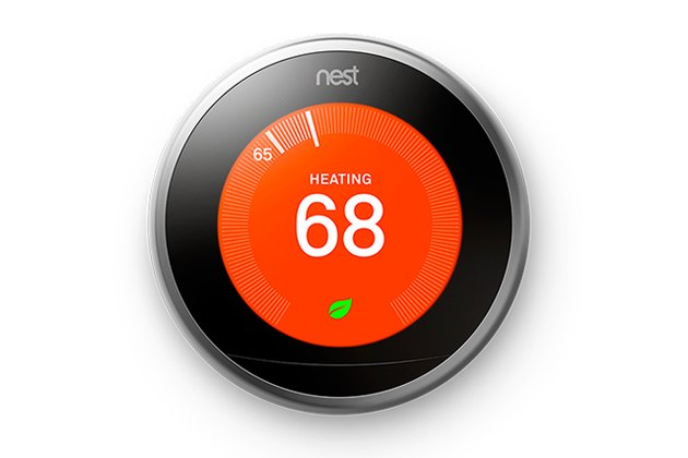 The Nest thermostat saves energy and allows you to control the climate of your home from anywhere in the world.