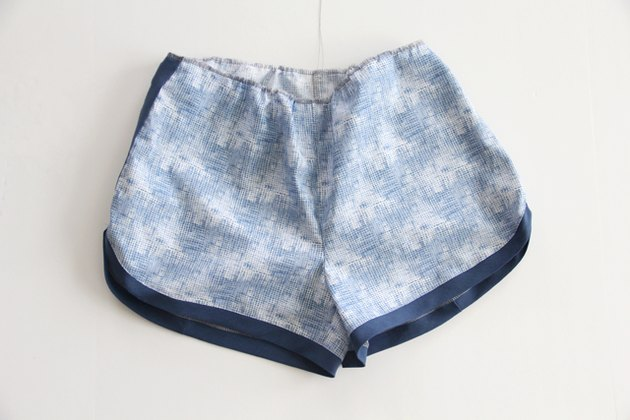 sew a gathering stitch around the shorts waistband