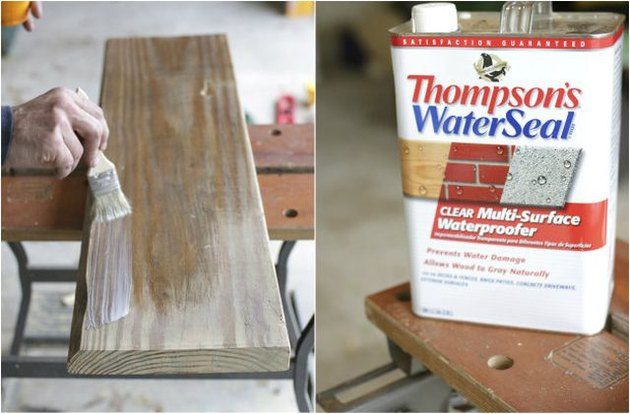 Application of wood waterproofer