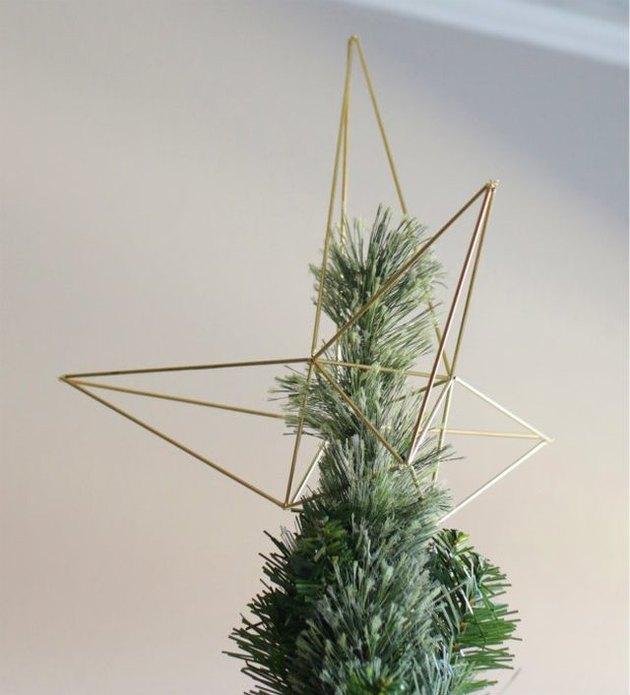 Himmeli-style christmas tree topper