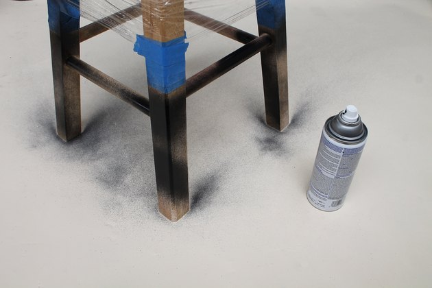 Paint the stool in layers.