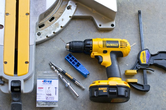 A few of the tools needed to make the geometric planter.